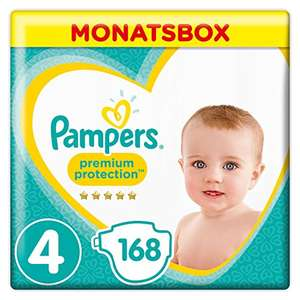 Pampers Premium Protection Size 4, 168 Nappies, Pampers' Softest Comfort