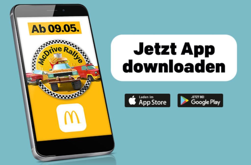 McDonalds McDrive Rallye - kostenlose Speisen erspielen