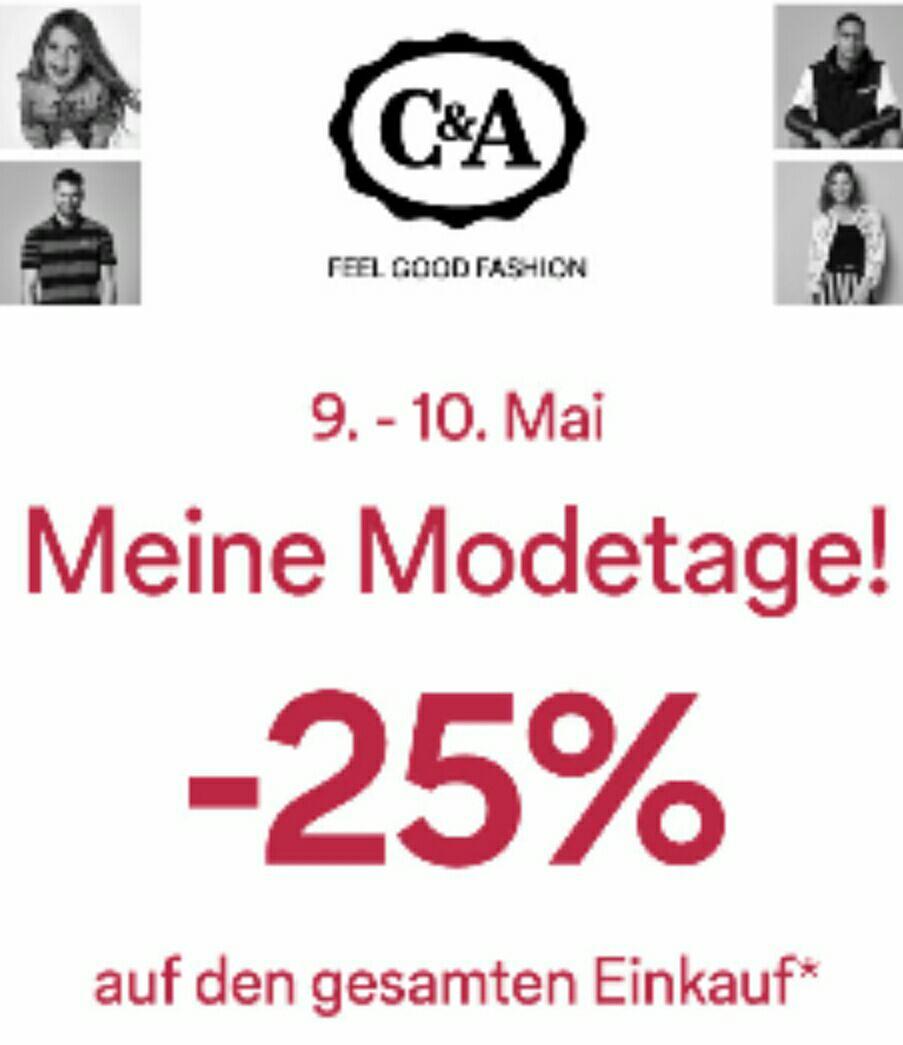[C&A] -25% auf ALLES Filialen und Online