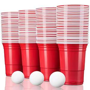 TRESKO Rote Partybecher 100 Stück | Beer Pong Party Cups | 473 ml
