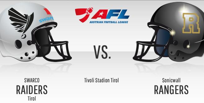 "GRATIS Eintritt - American Football - ""Swarco Raiders Tirol"" vs ""Sonicwall Rangers Mödling"" - am 18.5.2019"