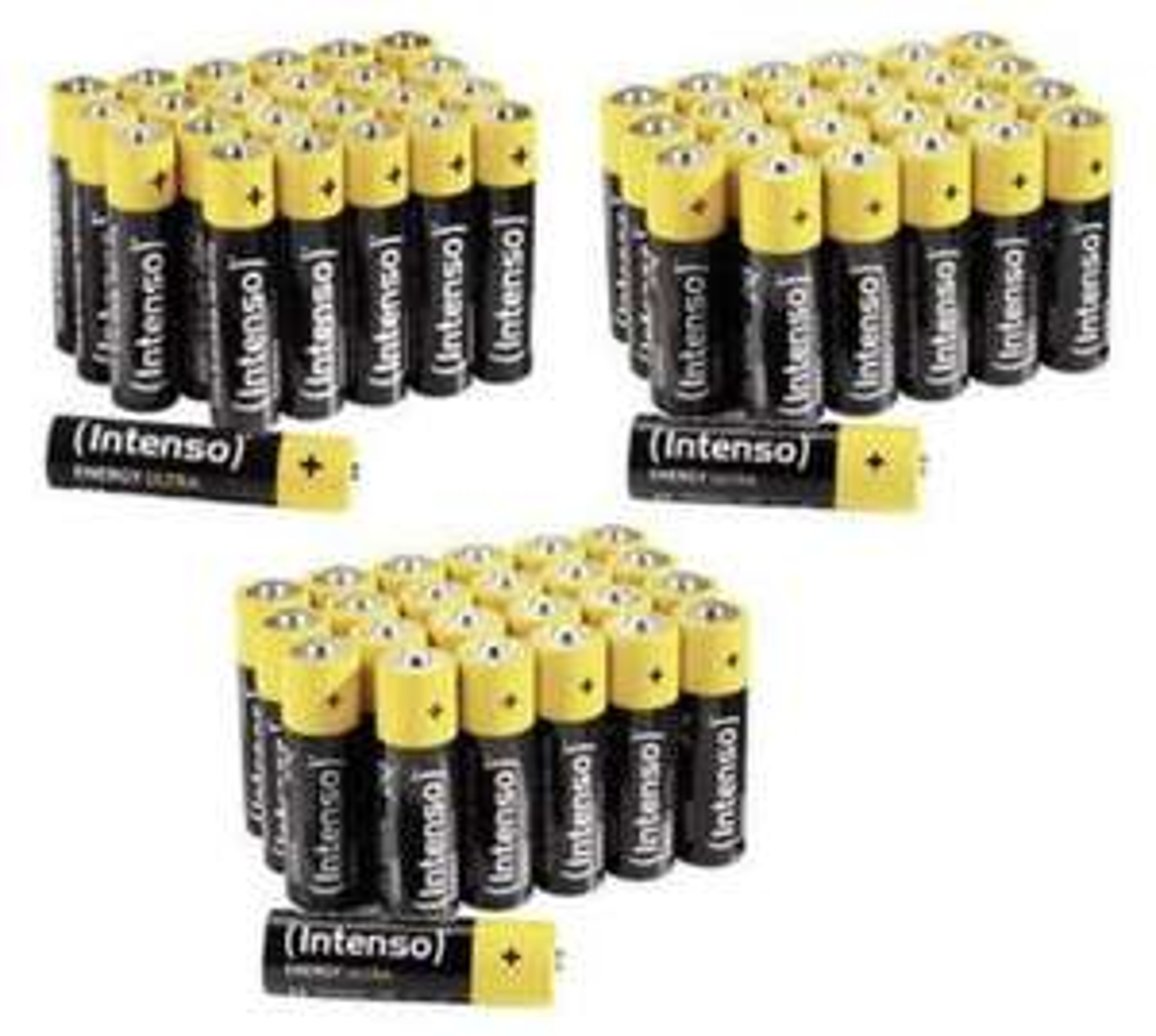 Intenso 72 x Energy-Ultra Batterien (48 Stück AA Mignon + 24 Stück AAA Micro)
