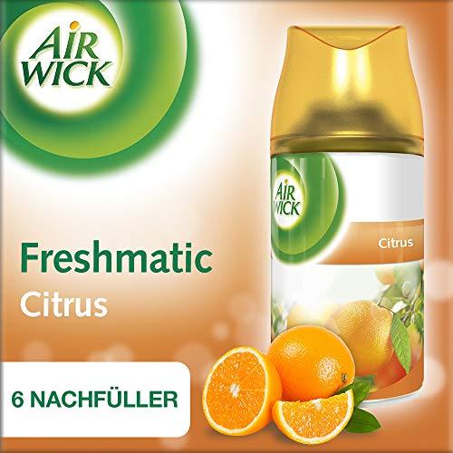 Air Wick Freshmatic Max Nachfüller für automatisches Duftspray, Citrus, 6 x 250 ml