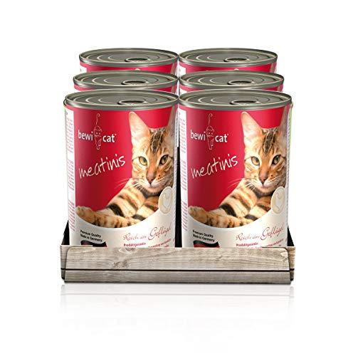 "Katzenfutter ""Bewi Cat Meatinis"" 6x400g"