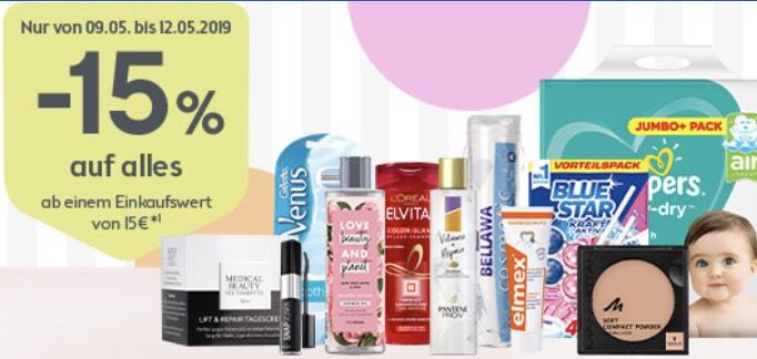 Bipa: -15 % auf alles ab € 15,— Einkaufswert