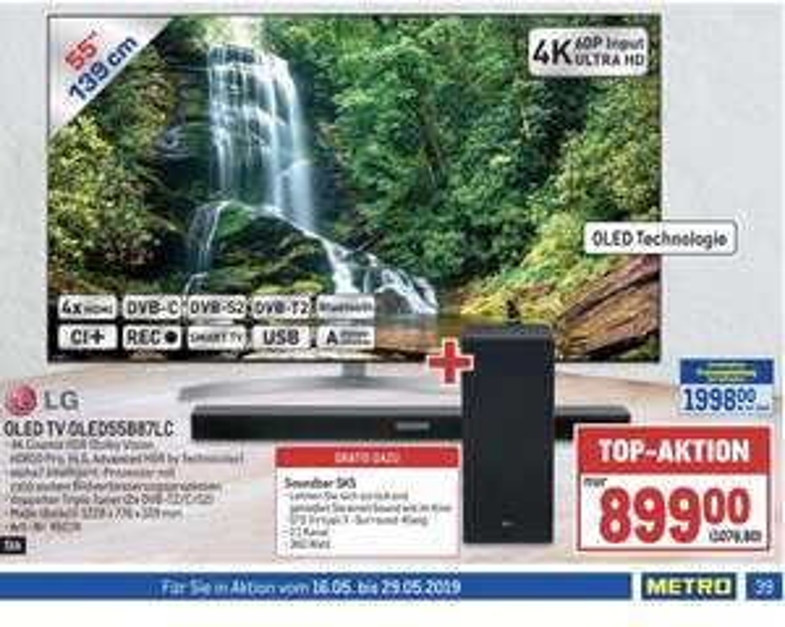 LG 55 Zoll B87 OLED + LG SK5 Soundbar