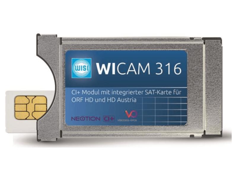 WISI WICAM 316 CI+-Modul mit integrierter SAT-Karte für ORF und HD Austria