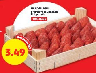 Erdbeeren 1kg in Holzkiste