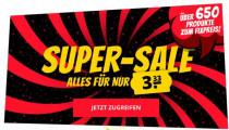 Sportspar: Über 650 Produkte für je nur 3,33€ + 6,95€ Versandkosten