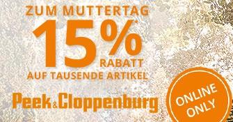 Peek & Cloppenburg - 15% Rabatt auf tausende Artikel - ab 18:00 Uhr