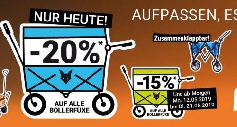 20% Rabatt auf Bollerwagen FUXTEC