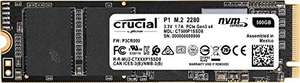 Crucial P1 CT500P1SSD8 500GB Interner SSD (3D NAND, NVMe, PCIe, M.2)