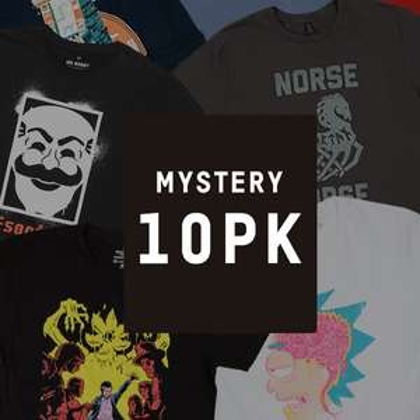 10 Pack Mystery T-Shirt (DC, Marvel, Star Wars, GoT ...)