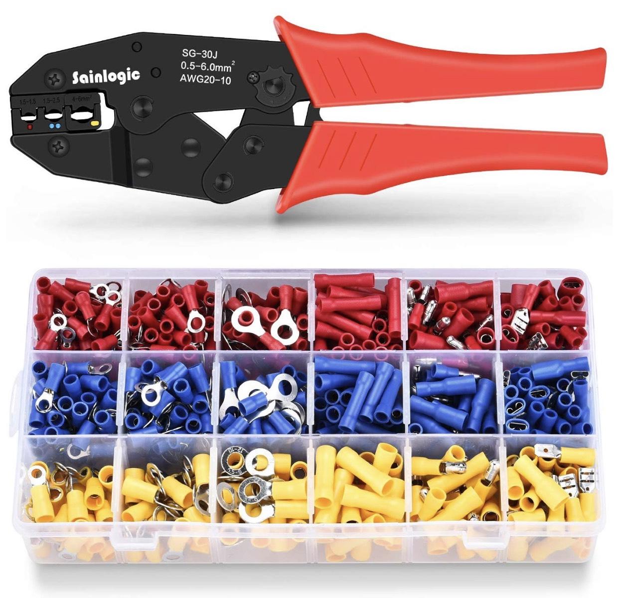 Sainlogic Crimpzangen Set mit 700 Quetschverbindern