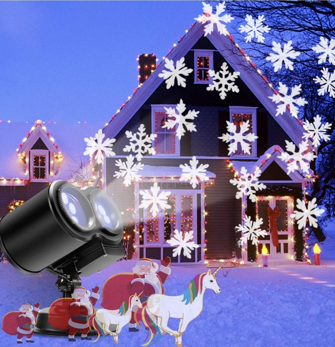 B-right LED Projektor Schneeflockenlampe