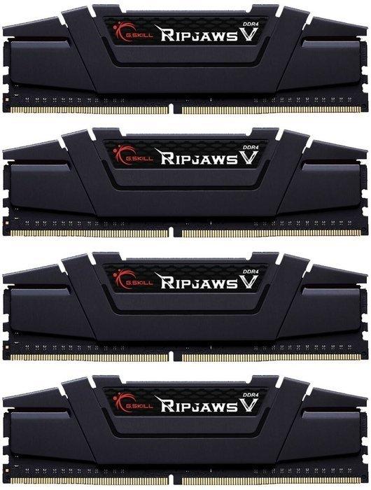 G.Skill RipJaws V schwarz DIMM Kit 64GB, DDR4-3200, CL16-18-18-38 (F4-3200C16Q-64GVK) @reichelt inkl. Versand (begrenzte Stückzahl)