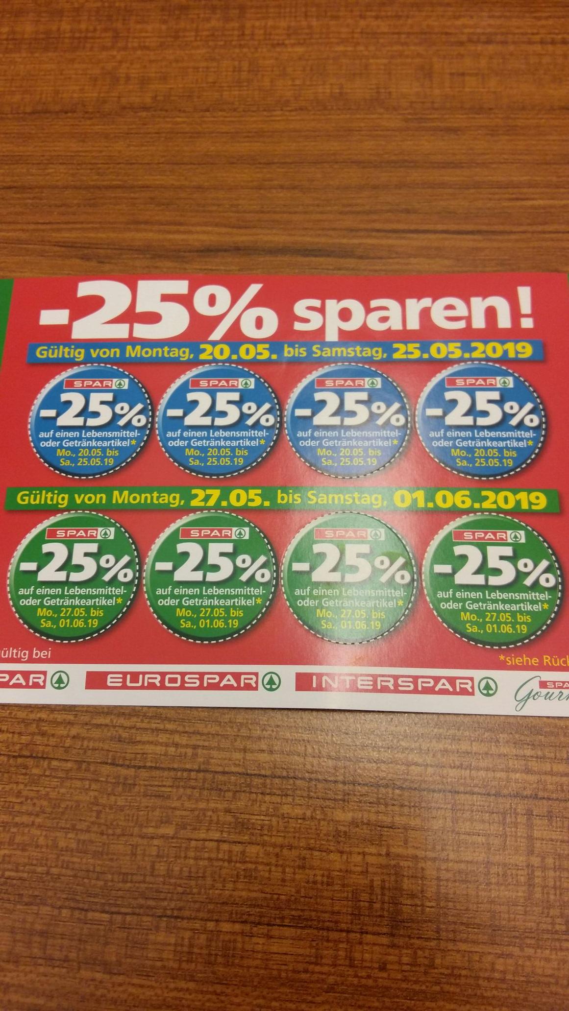 -25% Sticker von Spar