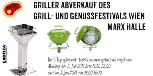 Griller Abverkauf 2. Juni St. Marx