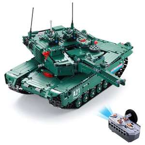 CaDA C61001W Tank (M1A2 Abrams) Klemmbaustein Set mit 1498 Teilen - 2,4Ghz RC