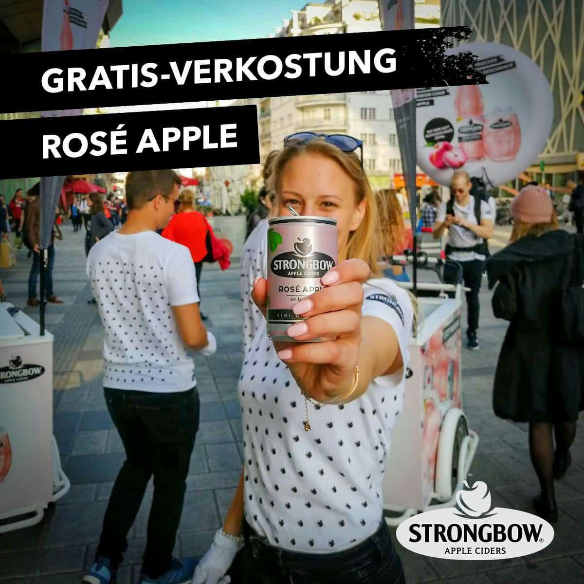 Strongbow Rosé Apple kostenlose Verkostung - Orte und Termine im Deal