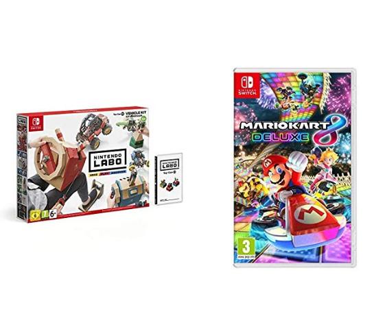 Nintendo Labo Vehicle Set + Mario Kart 8 Deluxe