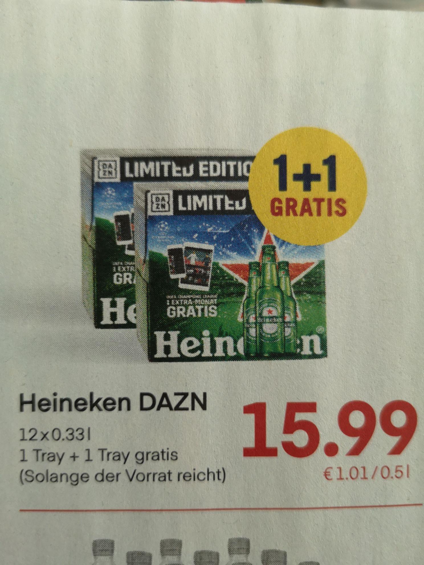 Heineken 1+1 und 2 Monate gratis Dazn