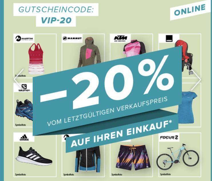 -20 % vom letztgültigen Verkaufspreis