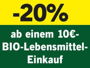 [LIDL ] Bis 25.5.19 gibt es 20% auf Bio ab mindestens € 10,- Bio-Lebensmittelkauf.