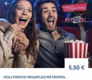 Hollywood Megaplex / Metropol: Montag Kino Tickets um 5,50 €