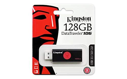Kingston DataTraveler 106 schwarz/rot 128GB, USB-A 3.0