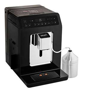 Krups Kaffeevollautomat EA8918 Evidence One-Touch-Cappuccino, OLED-Bedienfeld mit Touchcreen, 2.3 L, schwarz