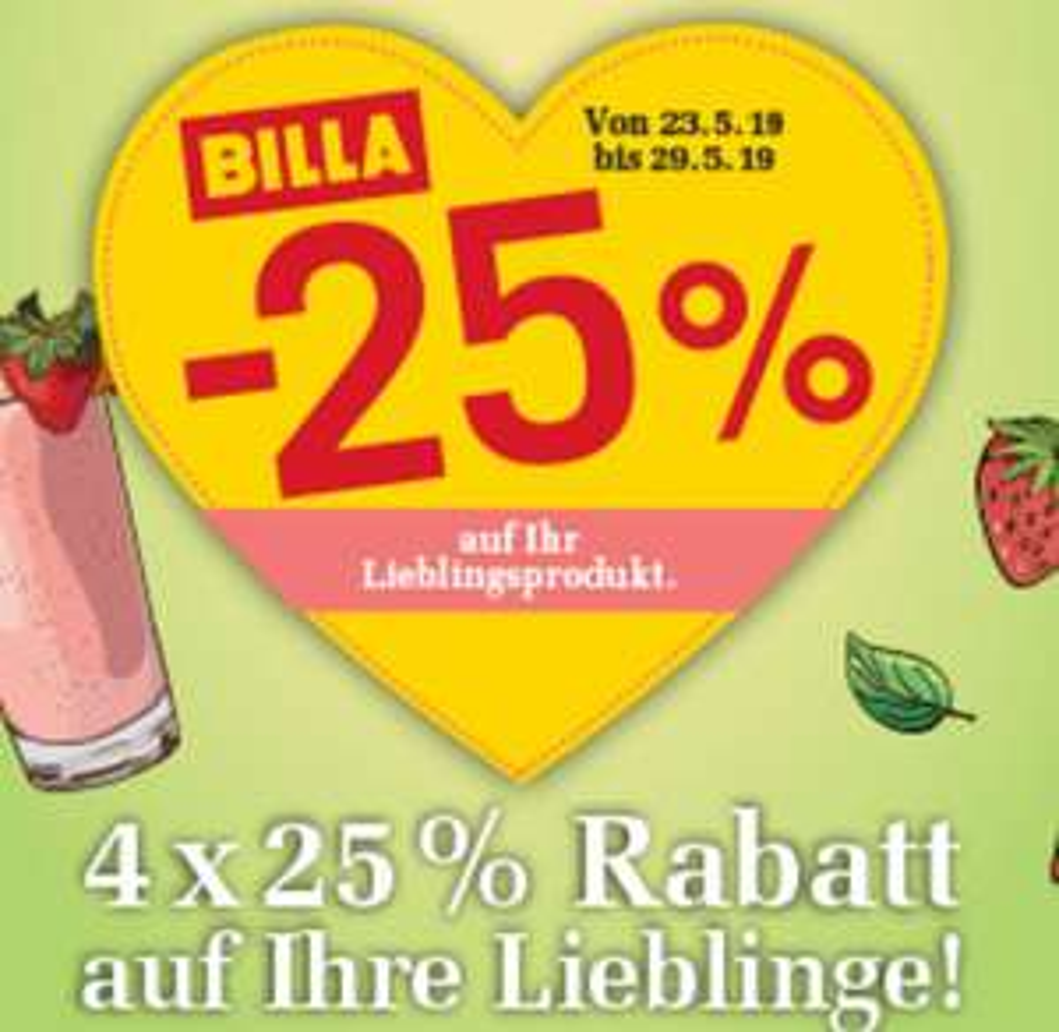 [Billa] -25% Rabatt Sticker ab 23.05 z.B. SodaStream Crystal 2.0  mit 3 Glaskaraffen um nur 81,75€ statt 99€ GZH