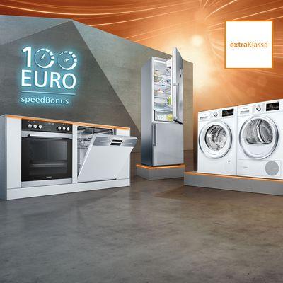 € 100,- Cashback auf Siemens Induktionskochfelder, Backöfen, Herde und Kühlschränke