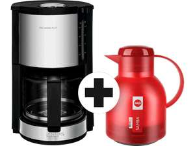 KRUPS Kaffeemaschine ProAroma Plus Glas-Kaffeemaschine KM3210 + Isolierkanne Emsa Samba