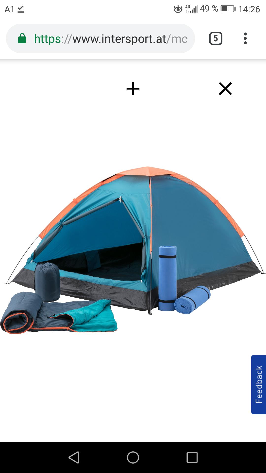 McKINLEY · Zelt-Set: Zelt + 2 Matten + 2 Schlafsäcke
