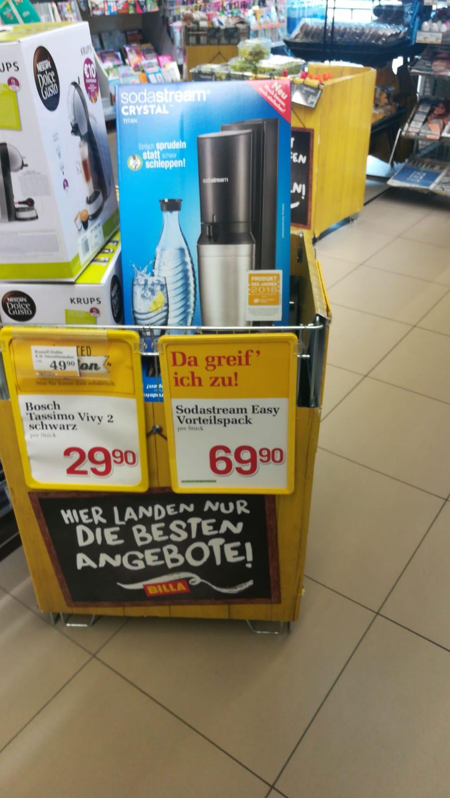(BILLA Lokal) SodaStream Easy Vorteilspack Trinkwassersprudler- mit dem -25% Pickerl - um 52,42 €