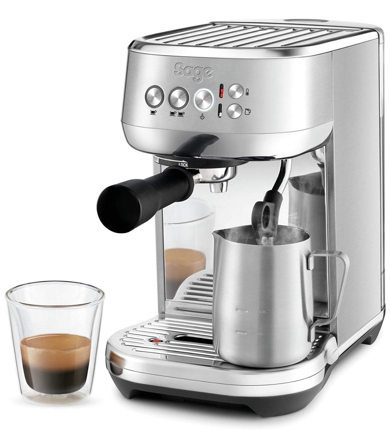 Sage Appliances SES500 Espressomaschine The Bambino Plus mit automatischer Milschaumerzeugung