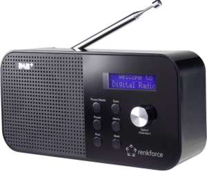 Renkforce RF-DAB-MONO1 DAB+ Kofferradio DAB+, UKW