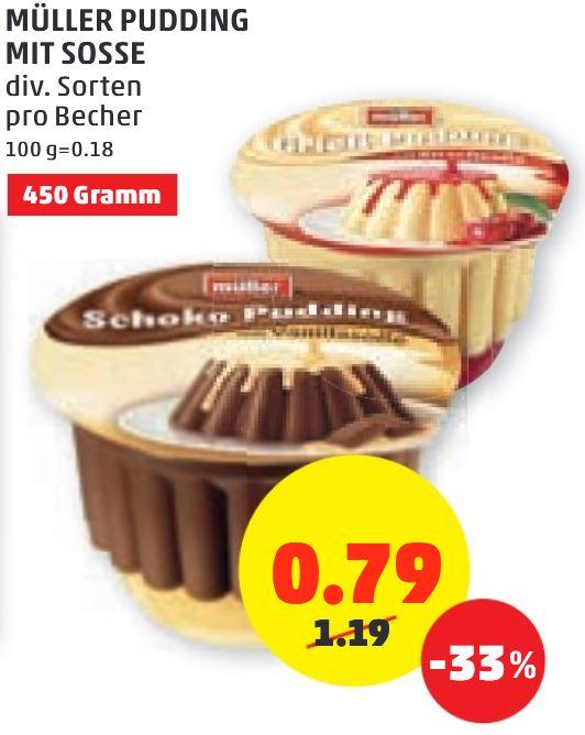 Müller Pudding mit Soße 450g