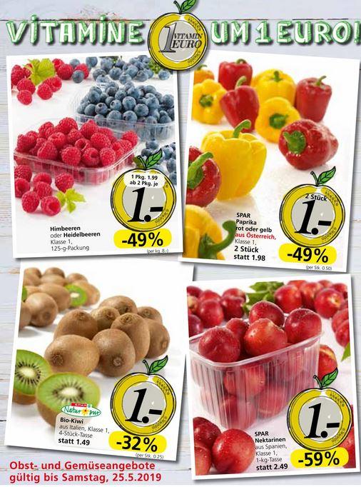 Vitamine um 1 Euro - z.B. Himbeeren / Heidelbeeren 125g