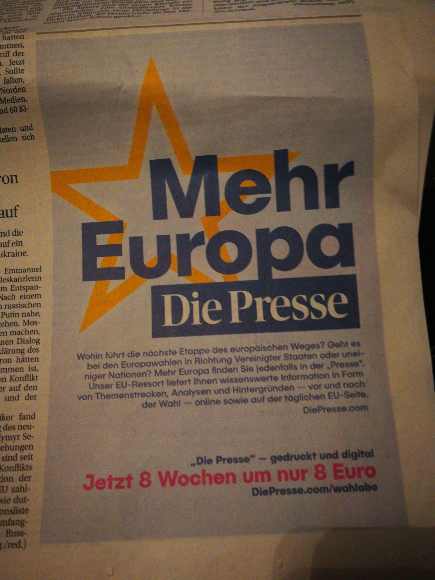 Die Presse 8 Wochen um 8€