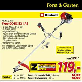 Einhell Benzin Motorsense GE-BC 52 I AS Benzin-Motorsense