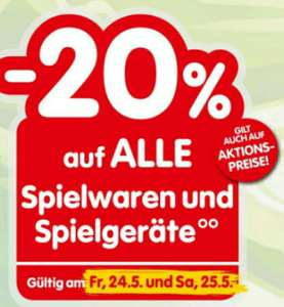 [INTERSPAR] -20% auf Spielwaren & Spielgeräte wie LEGO, Playmobil usw... inkl. Aktion, Sale und TOP DEAL