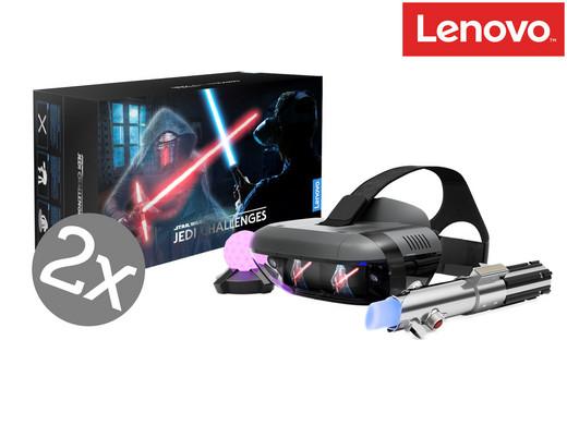 2x Lenovo Star Wars Jedi Challenges Augmented-Reality-Paket mit Headset, Lichtschwert und Peilsender
