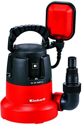 Einhell Tauchpumpe GC-SP 3580 LL (350 W, 8.000 l/h, flachabsaugend bis 1 mm, Pumpenstart ab 8 mm, integriertes Rückschlagventil)