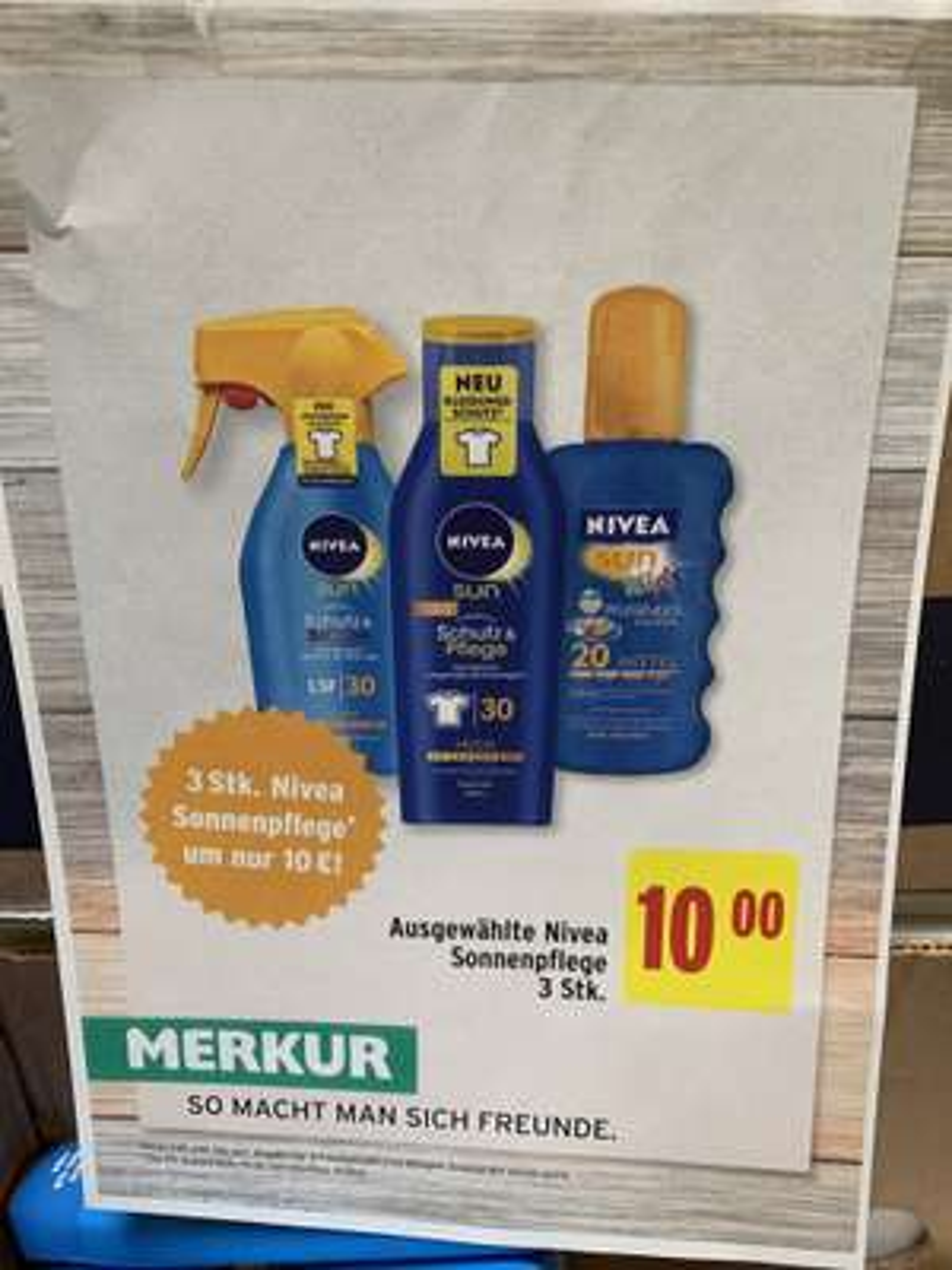 NIVEA Sonnenschutz / 3 Stück um 10€