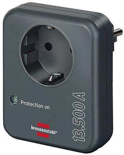 Brennenstuhl Steckdosenadapter mit Überspannungsschutz (13.500 A, Adapter als Blitzschutz für Elektrogeräte)