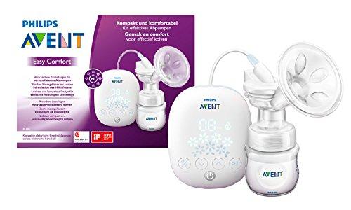 Philips Avent SCF301/02 Elektrische Kompakt-Milchpumpe, inkl. Naturnah-Flasche