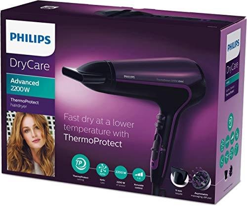 Philips HP8233/00 ThermoProtect Ionic (2200 Watt, DC-Motor, Ionen-Funktion, Kabel mit Drehkupplung, abnehmbares Lufteinlassgitter)