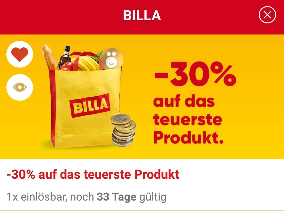 [JÖ-App | Billa] -30 % auf das teuerste Produkt